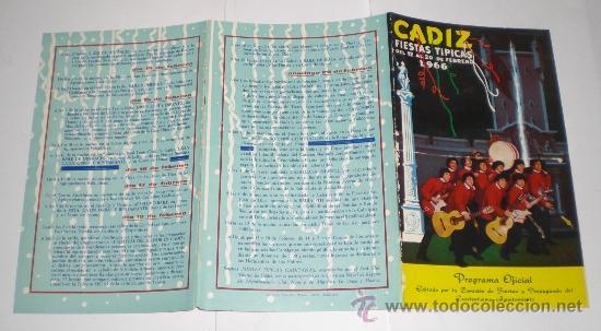 Carteles Feria: Programa Oficial (cuadriptico) - Carnaval de Cadiz - 1966 (excelente conservación) - Foto 3 - 38158077