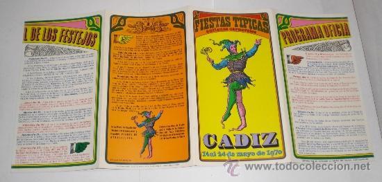 Carteles Feria: Programa Oficial (cuadriptico) - Carnaval de Cadiz - 1970 (excelente conservación) - Foto 3 - 38158285