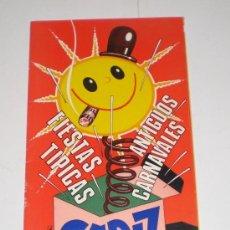 Carteles Feria: PROGRAMA OFICIAL (CUADRIPTICO) - CARNAVAL DE CADIZ - 1972 (EXCELENTE CONSERVACIÓN). Lote 38158463