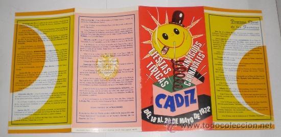 Carteles Feria: Programa Oficial (cuadriptico) - Carnaval de Cadiz - 1972 (excelente conservación) - Foto 3 - 38158463