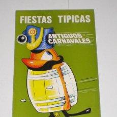 Carteles Feria: PROGRAMA OFICIAL (CUADRIPTICO) - CARNAVAL DE CADIZ - 1973 (EXCELENTE CONSERVACIÓN). Lote 38158602