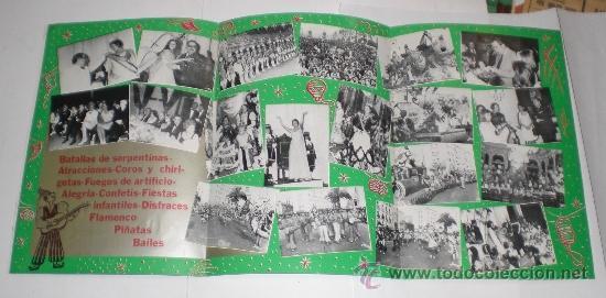 Carteles Feria: Programa Oficial (triptico) - Carnaval de Cadiz - 1975 (excelente conservación) - Foto 2 - 38158785