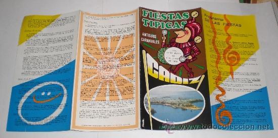 Carteles Feria: Programa Oficial (cuadriptico) - Carnaval de Cadiz - 1976 (excelente conservación) - Foto 3 - 38158932