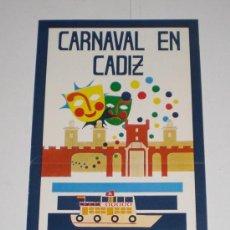 Carteles Feria: PROGRAMA OFICIAL - CARNAVAL DE CADIZ - 1977 (EXCELENTE CONSERVACIÓN). Lote 38158967