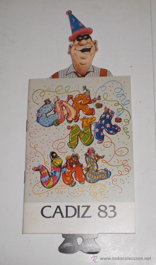 PROGRAMA OFICIAL - CARNAVAL DE CADIZ - 1983 (EXCELENTE CONSERVACIÓN) (Coleccionismo - Carteles Gran Formato - Carteles Ferias, Fiestas y Festejos)
