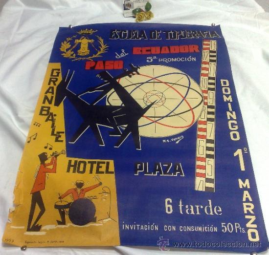 Carteles Feria: DOMINGO 1º DE MARZO DE 1959.- GRAN BAILE HOTEL PLAZA. DISEÑO M.S. VENERO. - Foto 16 - 38375586