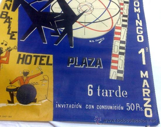 Carteles Feria: DOMINGO 1º DE MARZO DE 1959.- GRAN BAILE HOTEL PLAZA. DISEÑO M.S. VENERO. - Foto 4 - 38375586