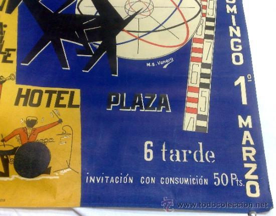 Carteles Feria: DOMINGO 1º DE MARZO DE 1959.- GRAN BAILE HOTEL PLAZA. DISEÑO M.S. VENERO. - Foto 6 - 38375586