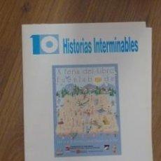 Carteles Feria: 10 CARTELES DE LA FERIA DEL LIBRO DE FUENLABRADA.. Lote 38505918