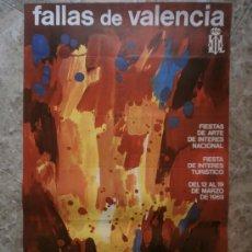 Carteles Feria: CARTEL FALLAS DE VALENCIA. AÑO 1969. Lote 122591584