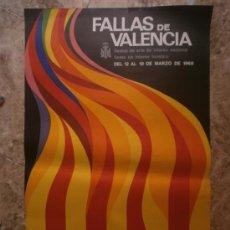 Carteles Feria: FALLAS DE VALENCIA. AÑO 1968. Lote 38608665