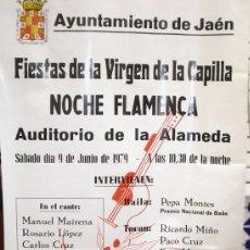 Carteles Feria: CARTEL NOCHE FLAMENCA EN JAEN AÑO1979. Lote 39075484