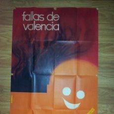 Carteles Feria: CARTEL FALLAS DE VALENCIA ORIGINAL ILUSTRADO POR ALVARO AÑO 1966 64CM X 1M. Lote 39358553