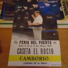 Carteles Feria: ANTIGUO CARTEL CARTEL FERIA DEL PUERTO 1970. Lote 39922664