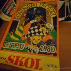Carteles Feria: CARTEL CARNAVAL DE CADIZ 1980 ORIGINAL GRAN TAMAÑO . Lote 39949608