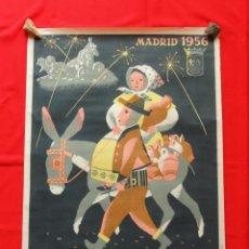 Carteles Feria: CARTEL FIESTAS DE SAN ISIDRO MADRID 1956, 100X70 CMS. EXCTE ESTADO, ILUSTRADOR TEODORO DELGADO. Lote 40012634
