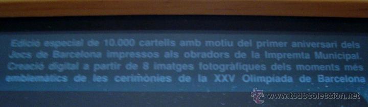 Carteles Feria: CARTEL JUEGOS OLIMPICOS BARCELONA 1992 EDICION ESPECIAL - Foto 2 - 40116532