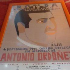 Carteles Feria: ORIGINAL CARTEL GOYESCA DE RONDA ANTONIO ORDÓÑEZ ACTUANDO JOSÉ TOMÁS AUTOR EDUARDO ARROYO. Lote 40222725