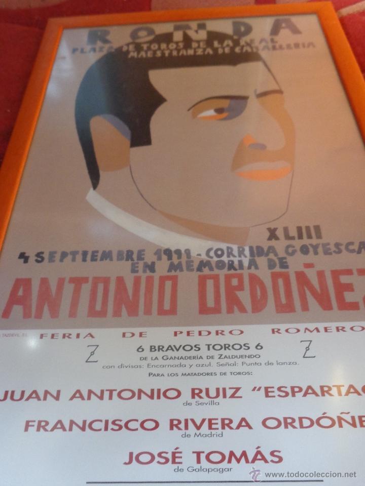 Carteles Feria: ORIGINAL CARTEL GOYESCA DE RONDA ANTONIO ORDÓÑEZ ACTUANDO JOSÉ TOMÁS AUTOR EDUARDO ARROYO - Foto 4 - 40222725