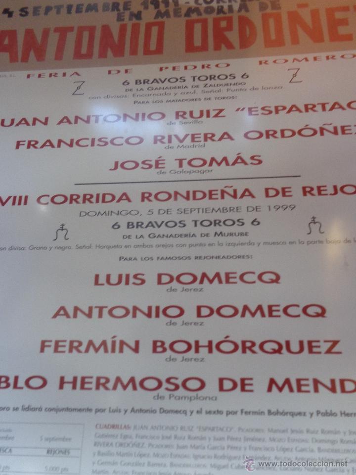 Carteles Feria: ORIGINAL CARTEL GOYESCA DE RONDA ANTONIO ORDÓÑEZ ACTUANDO JOSÉ TOMÁS AUTOR EDUARDO ARROYO - Foto 7 - 40222725