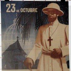Carteles Feria: ANTIGUO CARTEL DELDOMUND DEL AÑO SANTO, 23 DE OCTUBRE, DOMINGO MUNDIAL DE LA PROPAGACIÓN DE LA FE, . Lote 38281016
