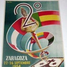 Carteles Feria: ANTIGUO CARTEL DE ZARAGOZA, CONGRESO IBEROAMERICANO DE LA VBLE. ORDEN TERCERA DE CARMELITAS DESCALZO. Lote 38281050