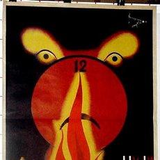 Carteles Feria: ANTIGUO CARTEL DE ALCOY (ALICANTE), FALLAS DEL 14 AL 16 DE AGOSTO DE 1936, ILUSTRADO POR TORREGROSA . Lote 38281063