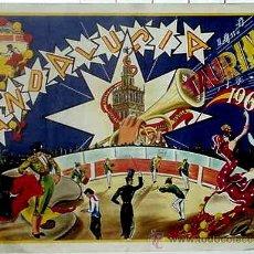 Carteles Feria: ANTIGUO CARTEL DE ANDALUCIA TAURINA 1968, ILUSTRADO POR C. HORNA – MIDE 94 X 70 CMS.. Lote 38281079