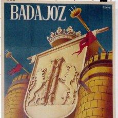 Carteles Feria: ANTIGUO CARTEL DEBADAJOZ FERIAS Y FIESTAS DE SAN JUAN 1953, ILUSTRADO POR D. LOBO – MIDE 100 X 62 C. Lote 38281083