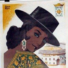 Carteles Feria: ANTIGUO CARTEL DE LINARES FERIA Y FIESTAS DE SAN AGUSTÍN, DEL 27 DE AGOSTO AL 1 DE SEPTIEMBRE DE 19. Lote 38281137