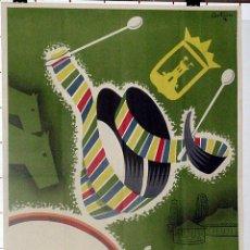 Carteles Feria: ANTIGUO CARTEL DE TALAVERA DE LA REINA FERIAS Y FIESTAS, ILUSTRADO POR ARTURO M. G. - AÑOS 50, MIDE . Lote 38281161
