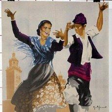 Carteles Feria: ANTIGUO CARTEL DE TERUEL FERIA Y FIESTAS DE SAN FERNANDO, DEL 29 DE MAYO AL 4 DE JUNIO DE 1954, ILU. Lote 38281164