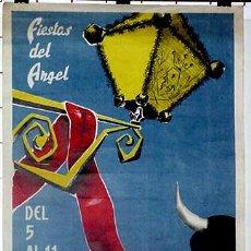 Carteles Feria: ANTIGUO CARTEL DE TERUEL, FIESTAS DEL ANGEL DEL 5 AL 11 DE JULIO DE 1966, ILUSTRADO POR AZUERA NOVEL. Lote 38281165