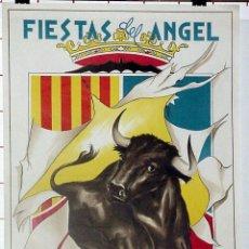 Carteles Feria: ANTIGUO CARTEL DE TERUEL FIESTAS DEL ANGEL, DEL 5 AL 10 DE JULIO DE 1967, ILUSTRADO POR CASINO - MI. Lote 38281166