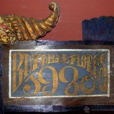 Carteles Feria: ANTIGUO CARTEL EN MADERA, AÑO 1930, BATALLA DE LAS FLORES VALENCIA..VER DESCRIPCION. Lote 40550732