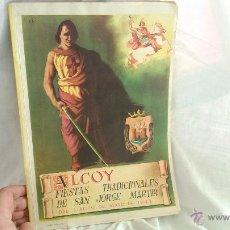 Carteles Feria: ALCOY PROGRAMA 1943 REVISTA LLIBRET FIESTAS DE MOROS Y CRISTIANOS HONOR SAN JORGE MARTIR ALCOY. Lote 41082926