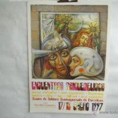 Carteles Feria: CARTEL ENCUENTROS PSICODELICOS 1997 BARCELONA EN EL CCB. Lote 41273596
