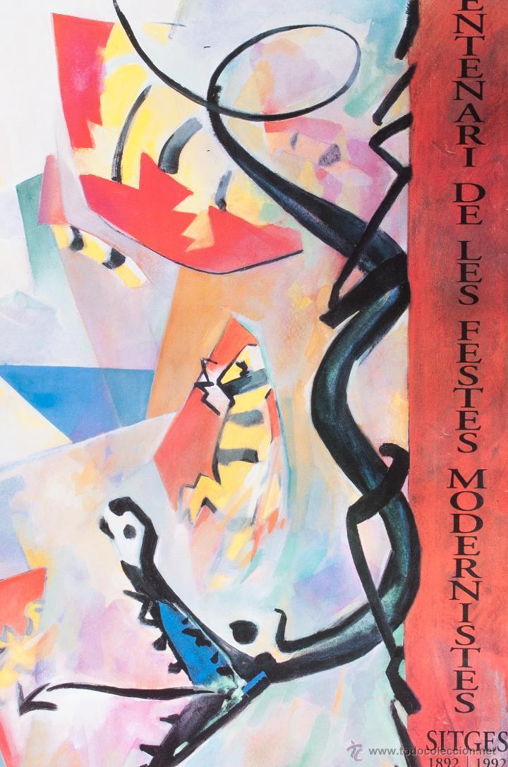 Carteles Feria: CARTEL DE CENTENARIO DE LAS FIESTAS MODERNISTAS DE SITGES, 1892-1992, - Foto 2 - 41357075