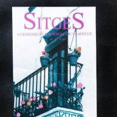 Carteles Feria: CARTEL DE SITGES DE CORPUS, AÑO 1990, 38 CONCURSO DE ALFOMBRAS DE FLORES. Lote 41357246