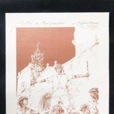 Carteles Feria: CARTEL DE MUESTRA DE MOIXIGANGUES, EN LA IGLESIA PARROQUIAL DE SITGES AÑO 1991. Lote 41372506