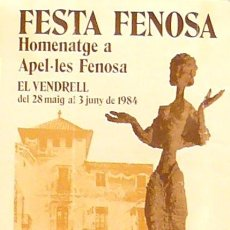 Carteles Feria: CARTEL FESTA FENOSA. Lote 41561884