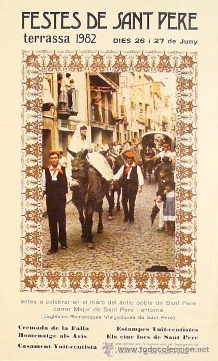 CARTEL TERRASSA FESTES DE SANT PERE 1982 (Coleccionismo - Carteles Gran Formato - Carteles Ferias, Fiestas y Festejos)