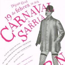 Carteles Feria: CARTEL CARNAVAL A SARRIA . 30X42 CM.. Lote 41610979