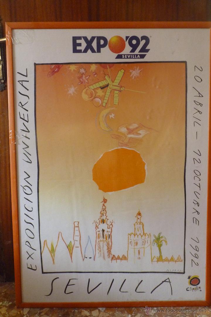 MAGNIFICO CARTEL EXPO 92, SEVILLA (Coleccionismo - Carteles Gran Formato - Carteles Ferias, Fiestas y Festejos)