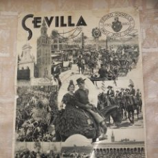 Carteles Feria: VENDO CARTEL ORIGINAL DE LAS FIESTAS PRIMAVERALES SEVILLA 1936. (VER MÁS FOTOS EN EL INTERIOR).. Lote 42960919