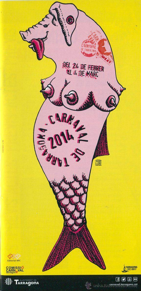 FOLLETO, PROGRAMA CARNAVAL TARRAGONA 2014 (Coleccionismo - Carteles Gran Formato - Carteles Ferias, Fiestas y Festejos)