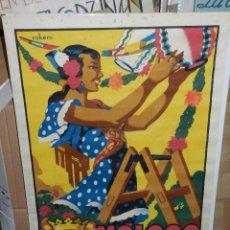 Carteles Feria: (M) CARTEL MALAGA GRANDES FIESTAS 1957, ORIGINAL DE LA EPOCA , ILUS. ROKERO , G ALCALA, MALAGA . Lote 43076254