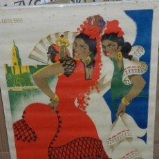 Carteles Feria: (M) CARTEL MALAGA GRANDES FIESTAS 1956 , ILUST. L RAMOS ROSA , G ALCALA, MALAGA , ORIGINAL DE EPOCA. Lote 43076541