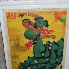 Carteles Feria: (M) CARTEL PRIEGO DE CORDOBA, REAL FERIA DE SEPTIEMBRE 1956 , ILUST. RICARDO ANAYA ,(ORIGINAL ). Lote 43076778