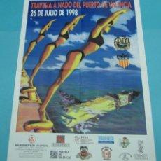 Carteles Feria: CARTEL TRAVESÍA A NADO DEL PUERTO DE VALENCIA. 1998. FORMATO 46 X 66 CM. Lote 43439990